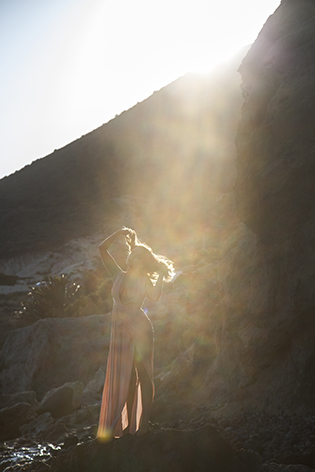 Bohochic wedding shoot in cabo de gata Model: kamila bielaga Dress: the jetset diaries