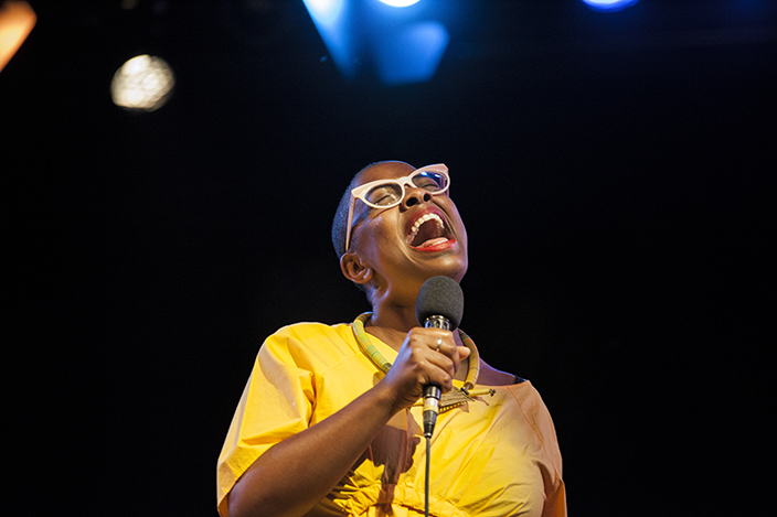 The gorgeous and charismatic Cecile Mclorin at Jazz in la Costa festival for Getty Images