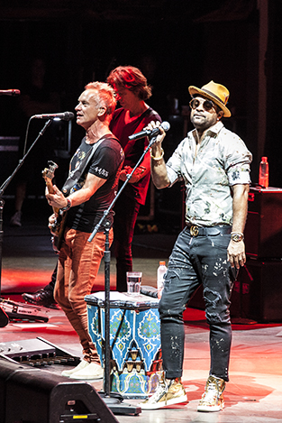 Sting performing with shaggy  at Starlite Festival for Getty Images