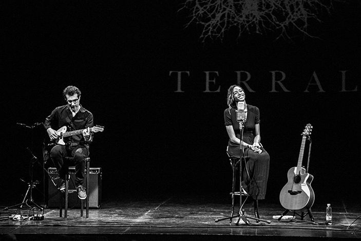 Ala.ni performing at teatro cervantes, terral festival ´18 for whisper not agency
